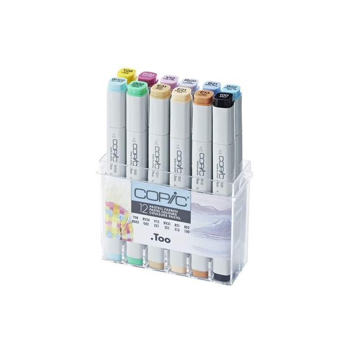 Markerji COPIC Classic Pastel Colours - set 12 kom