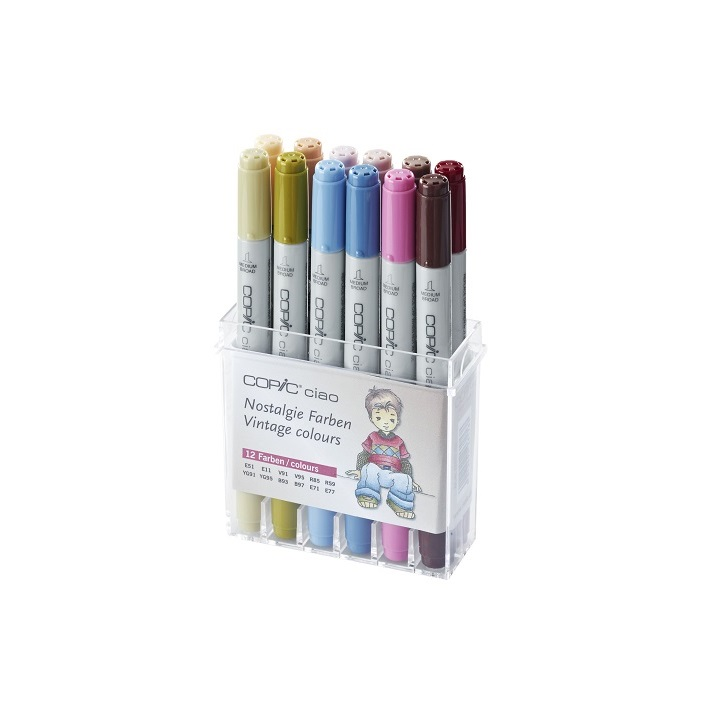 Markerji COPIC Ciao Vintage Colours - set 12 kom