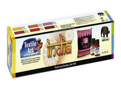 Set barv za tekstil INDIA 6x20ml