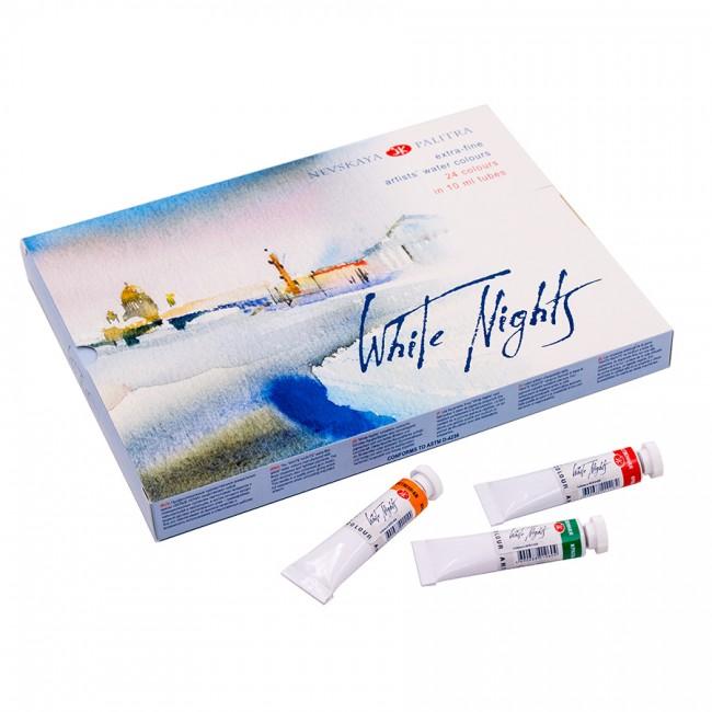 Set akvarel White Nights v tubi - 24x10 ml
