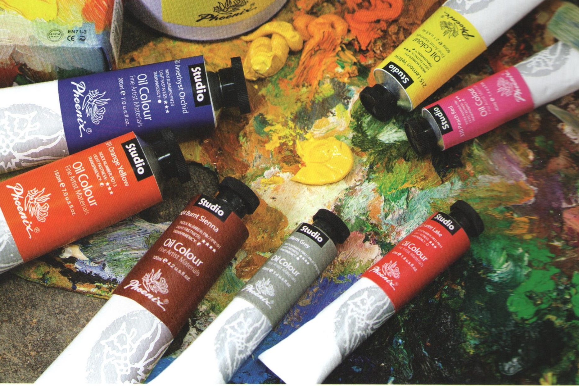 Oljna barva PHOENIX Studio Oil Colour - 120 ml - Purple Red