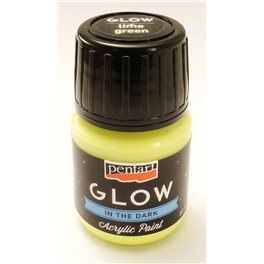 Akrilna barva fosforna 30 ml - Light Green