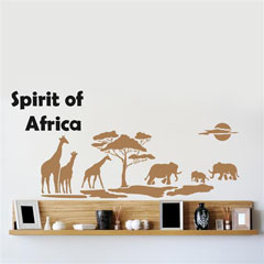 Šablona za steno Home Design BRICO XXL - Spirit of Africa