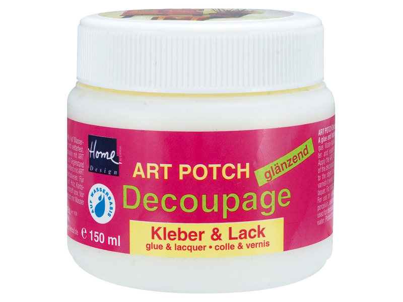 Lak in lepilo za decoupage 150 / 250 ml ART POTCH Decoupage – sijajni