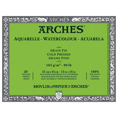 Blok ARCHES® Aquarelle Watercolour Cold Pressed – izberite format