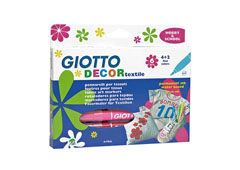 Flomasterji za tekstil GIOTTO DECOR textile/ 6 barv