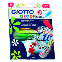 Flomasterji za tekstil GIOTTO DECOR textile/ 12 barv