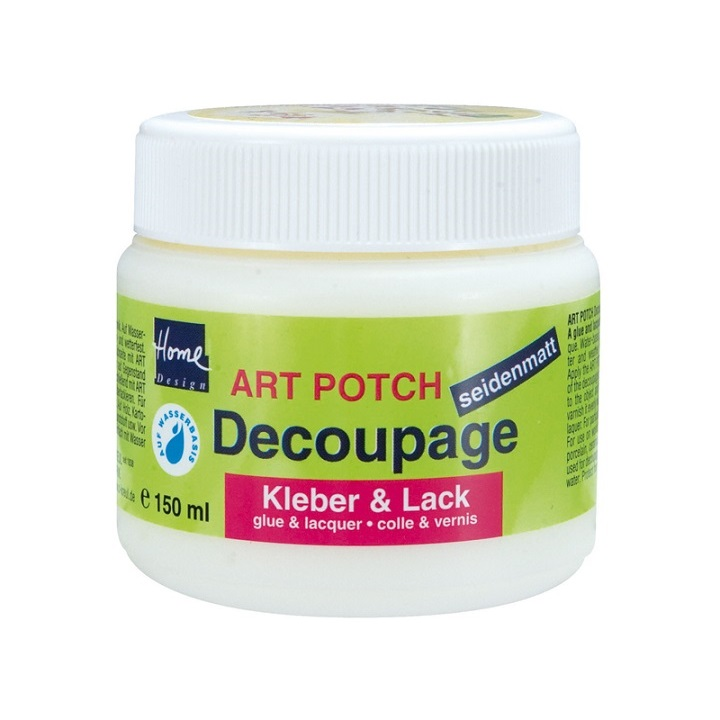 ART POTCH lak in lepilo za decoupage pol-mat 150 ml