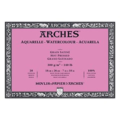 Blok ARCHES® Aquarelle Watercolour Hot Pressed - 18 x 26 cm