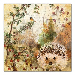 Eko serviete za decoupage Autumn Hedgehog - 1 kos