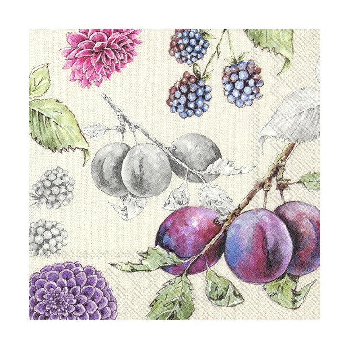 Eko serviete za decoupage Delicious Plums - 1 kos