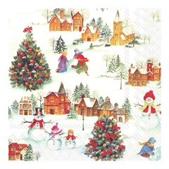 Eko serviete za decoupage Happy Christmas Time - 1 kos