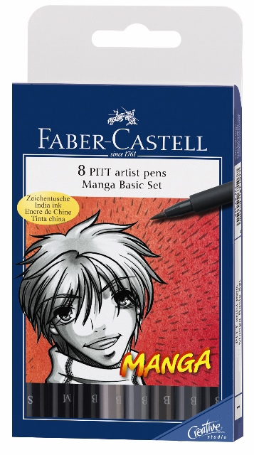 Flomastri Art Pen PITT Manga set