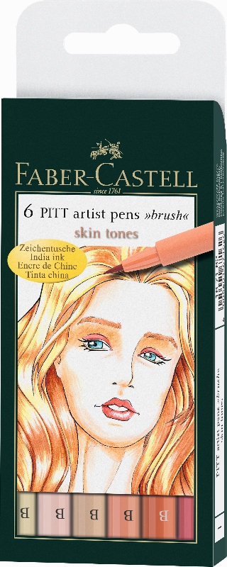 Flomastri Art Pen PITT - set 6 Skin
