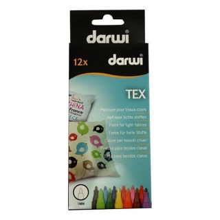 Set markerjev za tekstil DARWI TEX 12 x 3mm
