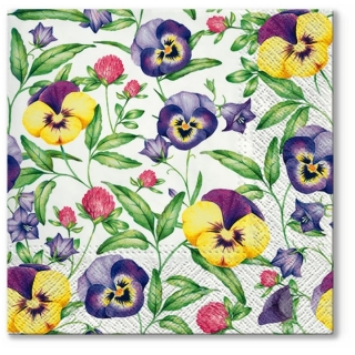 Serviete za decoupage Beautiful Pansies - 1 kos