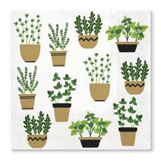 Serviete za decoupage Herbs in Pot - 1 kos