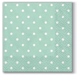 Serviete za decoupage Mint Dots - 1 kos