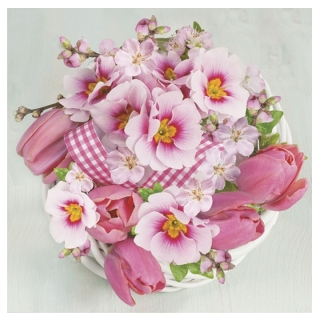 Serviete za decoupage Pink Bunch - 1 kos