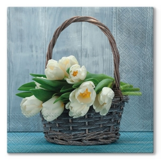 Serviete za decoupage Tulips in the Basket - 1 kos