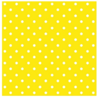 Serviete za decoupage Yellow Dots - 1 kos
