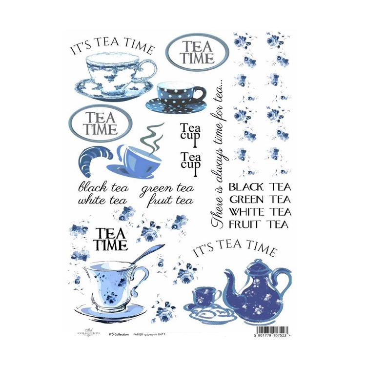 Rižin papir A4 ITD - Tea time