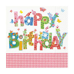 Servieta za decoupage - Happy Birthday - 1 kom