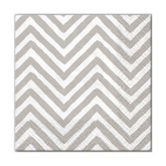 Serviete za decoupage - Big Chevron Gray - 1 kom