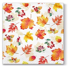 Serviete za decoupage Falling Leaves - 1 kos