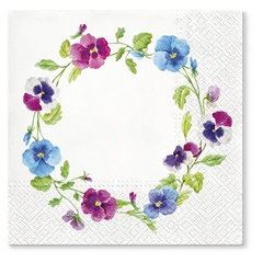 Serviete za decoupage Flower Wreath - 1 kos