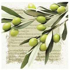 Serviete za decoupage Greek Olives - 1 kos