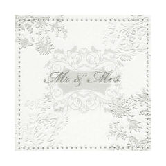 Serviete za decoupage - Mr & Mrs Silver - 1 kom