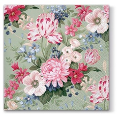 Serviete za decoupage tehniko Calm flowers - 1 kos