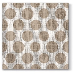 Serviete za decoupage tehniko Dots on Linen - 1 kos
