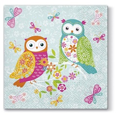 Serviete za decoupage tehniko Magical Owls - 1 kos