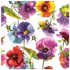 Serviete za decoupage Watercolour flowers - 1 kos
