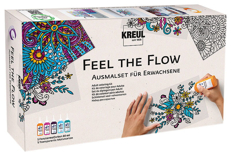 Set barv za steklo Feel the flow / 10 delni