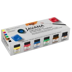 Set barv za svetli tekstil JAVANA Basic Colors 6x20 ml