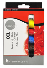 Set oljnih barv Daler - Rowney - SIMPLY 6 x 12ml